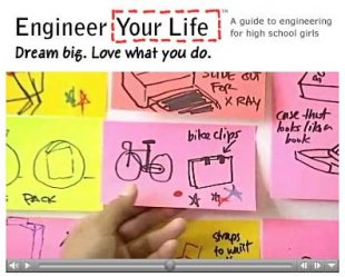 Video image Engineer Your Life Industrial Designer Commercial and industrial designers career video with Judy Lee designing various products.